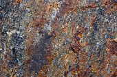 pic of iron pyrite  - Brown background - JPG