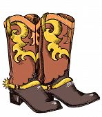 Cowboy Boots .vector Graphic Image