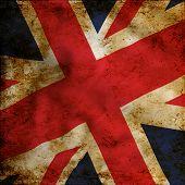 Постер, плакат: Флаг гранж Великобритании