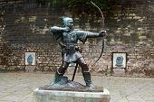 Statue of Robin Hood, East Midlands poster