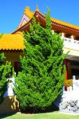 image of hacienda  - Manicured landscaping taken at a Buddhist Temple in Hacienda Heights - JPG