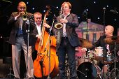 LVIL, UKRAINE - JUNE 3: Wynton Marsalis and Igor Butman Quartet in concert during Alfa Jazz Festival