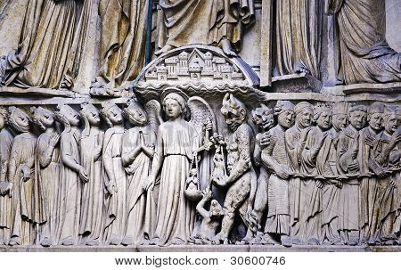 Architectonic detail, Notre-Dame Paris
