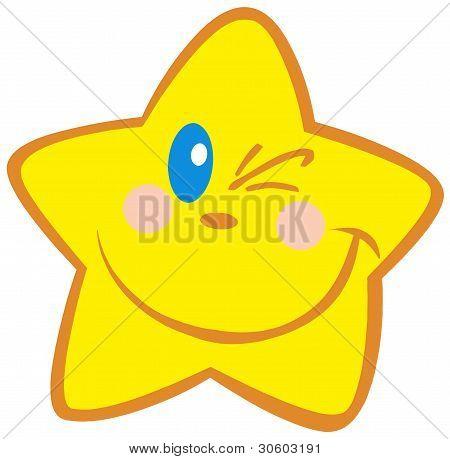 Yellow Star Winking