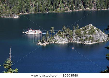 Fannette Island in Emerald Bay, Lake Tahoe, California