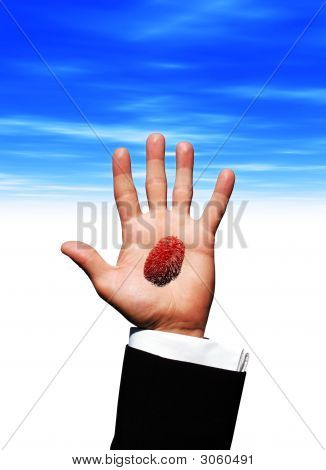 Finger Print On Hand Palm