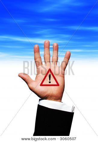 Alarm Symbol In Hand