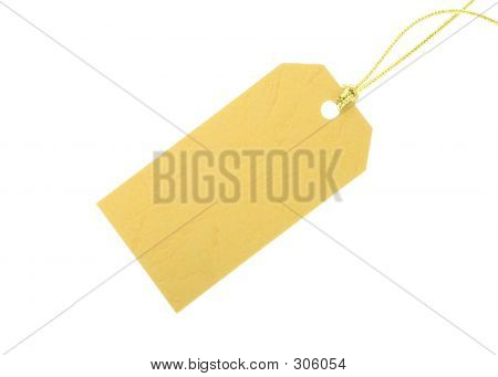 Yellow Gift Tag