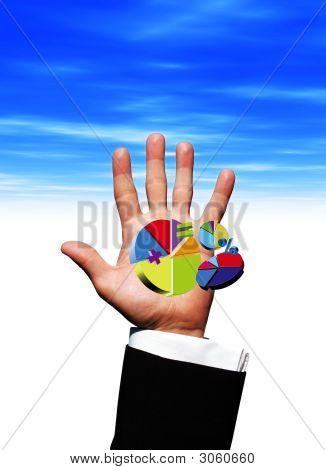Gráficos de pizza na mão