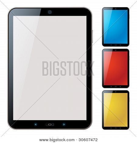 Vertical Tablet Pc Set With Copyspace - Isolated Vector