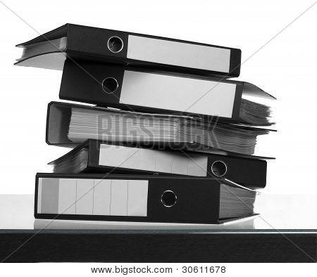 Folders On Desk Surface
