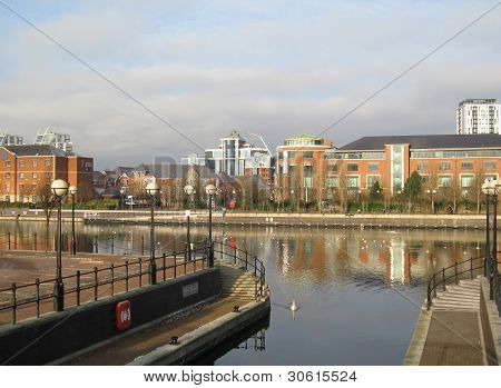 Residential Buildings In Salford Quays, Manchester