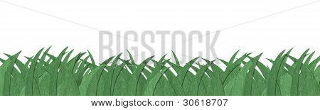 Green Grass Texture Made By Recycle Paper