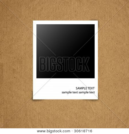 Blank Photograph On Grunge Paper Board