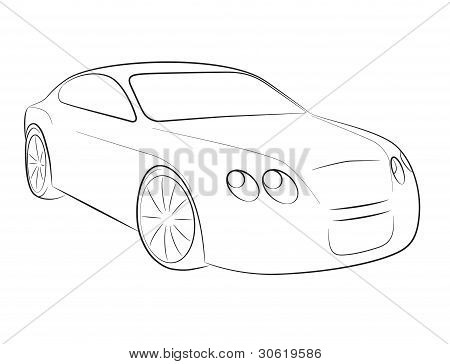 Cartoon silhouette of a car