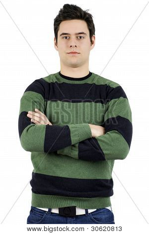 Serious Young Man Staring At Camera