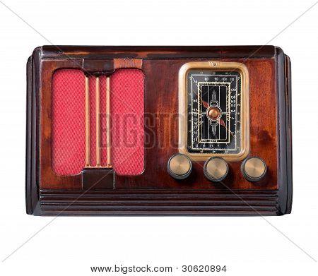 Radio de madera vintage.