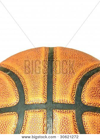 • Close up Basketball surface or texture.