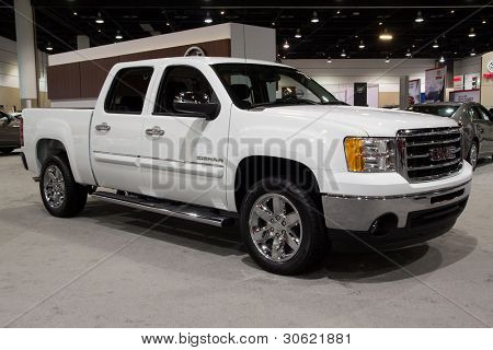 JACKSONVILLE, FLORIDA-FEBRUARY 18: A 2012 Sierra 1500 at the Jacksonville Car Show on February 18, 2012 in Jacksonville, Florida.