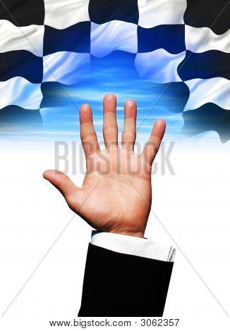 Winning_Flag_Hand