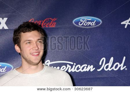 LOS ANGELES - MAR 1:  Phillip Phillips arrives at the American Idol Season 11 Top 13 Party at the The Grove Parking Structure Rooftop on March 1, 2012 in Los Angeles, CA