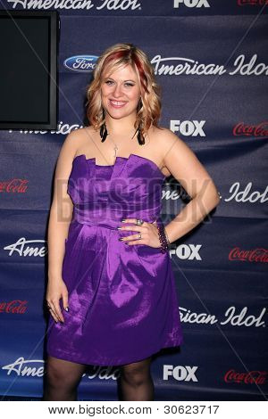 LOS ANGELES - MAR 1:  Erika Van Pelt arrives at the American Idol Season 11 Top 13 Party at the The Grove Parking Structure Rooftop on March 1, 2012 in Los Angeles, CA
