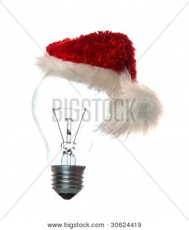 Light Bulb With Xmas Cap
