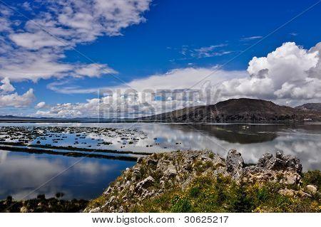 Lake Titicaca - A View Toward Bolivia
