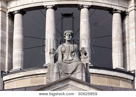 Lady Justice On Her Throne