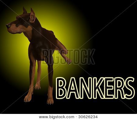Dog Shows It Contempt For Bankers