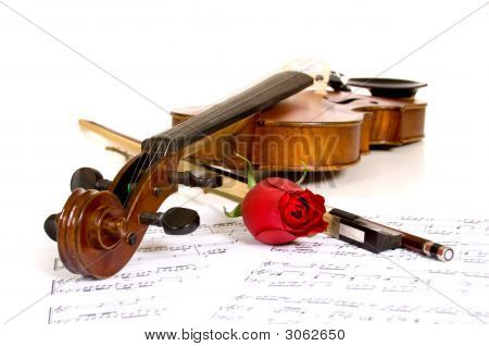 Violin, Rose And Music