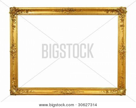 Decorative old golden picture frame