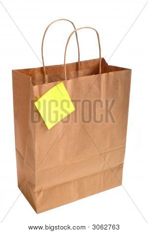 Paper Shopping Bag With Note