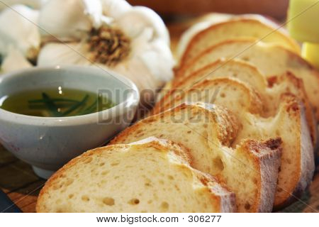 Garlic Bread Closeup