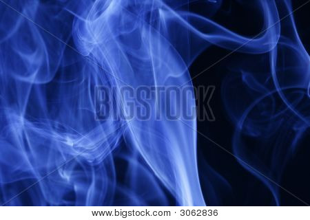 Smoke Trail In Blue