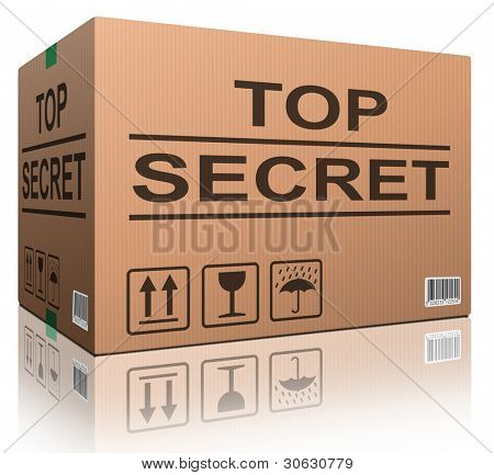 top secret confidential information or classified info big important secret