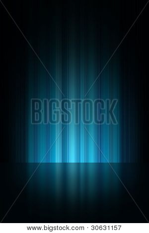 Blue theatrical stage background