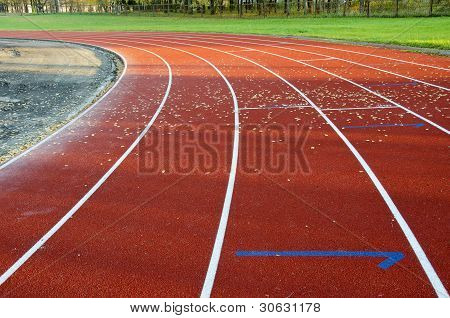Athletics Sport Stadium Running Track Lines Marks