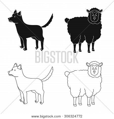 poster of Vector Design Of Breeding And Kitchen  Symbol. Collection Of Breeding And Organic  Stock Vector Illu