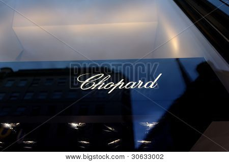 Sign Of The Chopard Store In Vienna