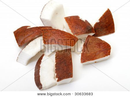 Pieces of coconut