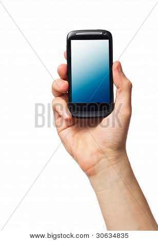 Cell Phone In Male Hand