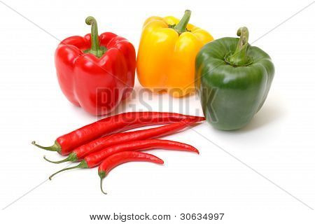Chili pepper and paprika