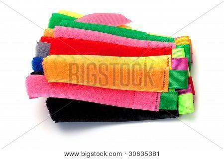 multicolor velcro straps