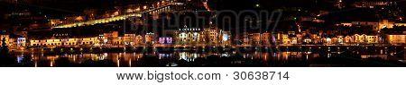 Night panorama Porto, Portugal