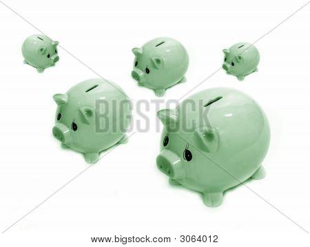 Piggy Bank Green