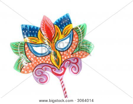 Party Mask Isolated On White Background