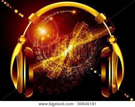 Música por los auriculares