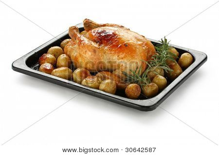 oven roasted chicken with potatoes