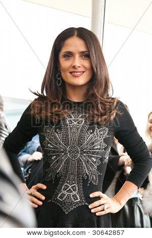 MOSCOW - JULY 16:Salma Hayek arriving at the